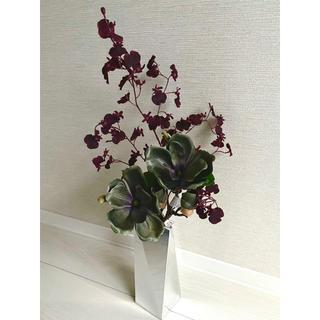 フランフラン(Francfranc)の新品 フランフラン アートフラワー 造花 マグノリア オンシジューム 花瓶(花瓶)