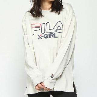 エックスガール(X-girl)の新品タグ付き FILAコラボ 長袖Tシャツ(Tシャツ(長袖/七分))