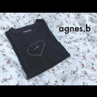 agnes b. - ◎agnes.b◎ アニエスベー ロゴTシャツ 半袖 ブラック 黒