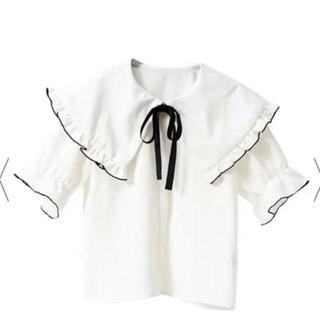 ユメテンボウ(夢展望)のセーラーフリル襟シンプルブラウス(シャツ/ブラウス(半袖/袖なし))