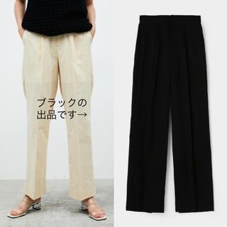 マウジー(moussy)のMOUSSY relax wide pants ブラック 2 美品(カジュアルパンツ)