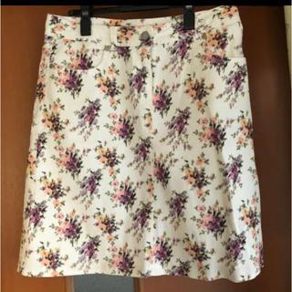 ローラアシュレイ(LAURA ASHLEY)のローラアシュレイ 花柄スカート(ひざ丈スカート)