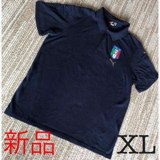 プーマ(PUMA)のpuma プーマ ポロシャツ FIGC ネイビー 綿100% ロゴ XLサイズ(ポロシャツ)