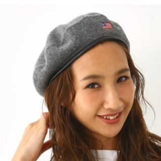 ロデオクラウンズワイドボウル(RODEO CROWNS WIDE BOWL)のブラックベレー帽(ハンチング/ベレー帽)