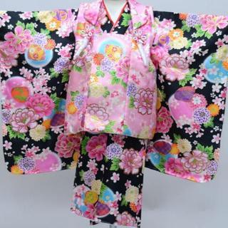 七五三 三歳 女児 被布着物 フルセット 百花斉放 NO27087(和服/着物)