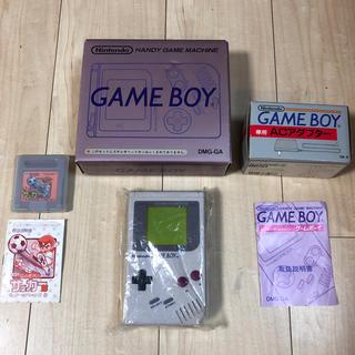 ゲームボーイ - 初代ゲームボーイ本体 カセット1本 ACアダプター