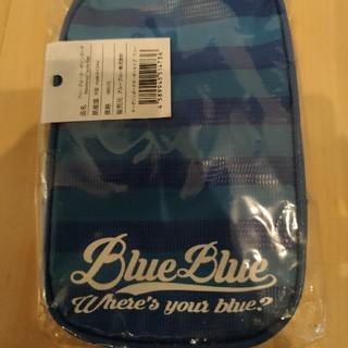 ブルーブルー(BLUE BLUE)のブルーブルー blueblue ターポリンポーチ ボーダー ブルー 小物入れ(ウエア)