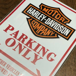 Harley Davidson - ハーレーダビッドソン パーキングオンリー ブリキ看板
