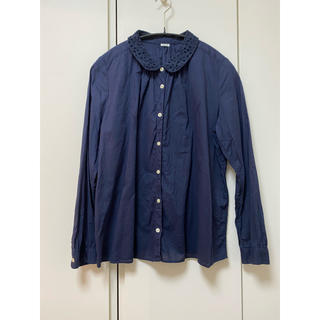 パーリッシィ(PAR ICI)のPAR ICI ネイビー シャツ ブラウス(シャツ/ブラウス(半袖/袖なし))