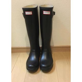 ハンター(HUNTER)のハンターレインブーツ 黒HUNTER 24センチEU38(レインブーツ/長靴)
