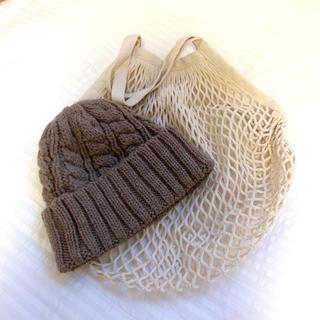 ムジルシリョウヒン(MUJI (無印良品))の無印良品 コットンメッシュバック&ニット帽(トートバッグ)