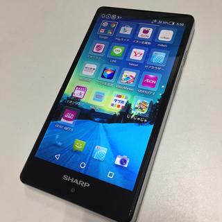 アクオス(AQUOS)のAEONモバイル SIMフリー AQUOS SH-M02 ホワイト(スマートフォン本体)