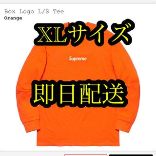 シュプリーム(Supreme)のsupreme Box Logo L/S Tee ORANGE XLサイズ(Tシャツ/カットソー(七分/長袖))