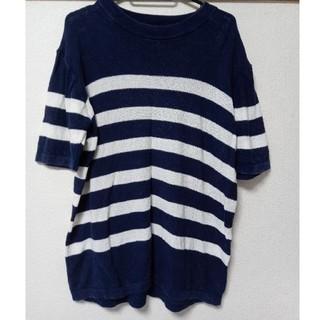 サニーレーベル(Sonny Label)のSonny Label  サマーニット Tシャツ ボーダー メンズ(Tシャツ/カットソー(半袖/袖なし))