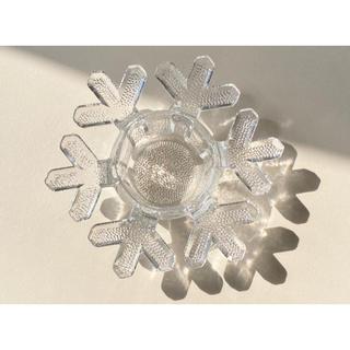 イッタラ(iittala)のカケあり イッタラ スノークリスタル キャンドルホルダー 雪の結晶 2(置物)