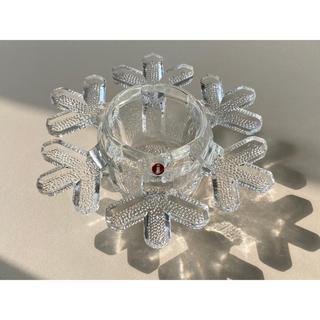 イッタラ(iittala)のイッタラ スノークリスタル キャンドルホルダー 雪の結晶 3(置物)