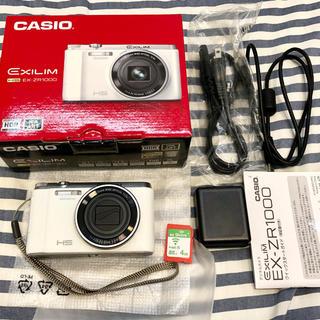 カシオ(CASIO)のほぼ未使用 おまけ有 CASIO  EXILIM EX-ZR1000WE カメラ(コンパクトデジタルカメラ)