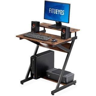 FITUEYES パソコンデスク ラック付き 幅70cm 組立簡単 木製(オフィス/パソコンデスク)