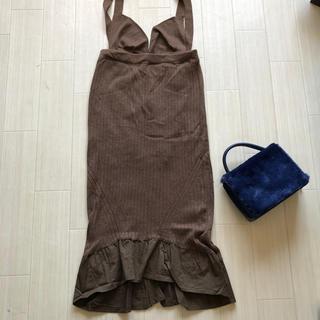 ローズバッド(ROSE BUD)のローズバッド購入バーンブリーズ 2wayニットスカート(ロングスカート)