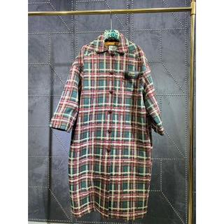 グッチ(Gucci)のグッチ チェックパターンミディアムコート マルチカラー(テーラードジャケット)