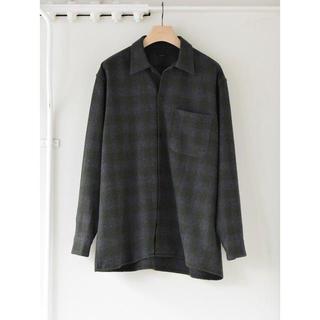 コモリ(COMOLI)のCOMOLI 20AW ウールチェックオープンカラーシャツ サイズ3(シャツ)