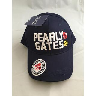 パーリーゲイツ(PEARLY GATES)のパーリーゲイツ キャップ ネイビー 新品 ユニセックス 帽子 ゴルフ(キャップ)