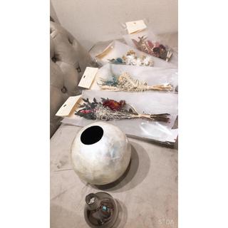 フランフラン(Francfranc)の新品未使用 ドライフラワー 花瓶 セット(ドライフラワー)