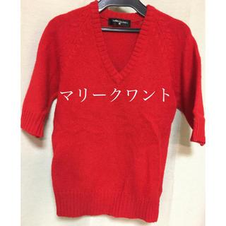 マリークワント(MARY QUANT)のマリークワント ニット セーター 赤色 ウール毛100%(ニット/セーター)