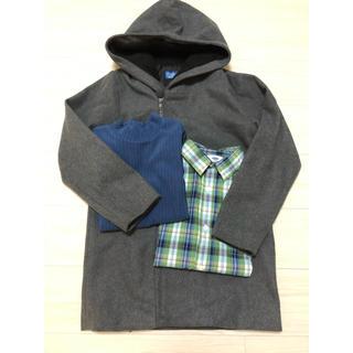 ユニクロ(UNIQLO)の150㎝コート、ユニクロトップス、オールドネイビーシャツ 3点セット(コート)