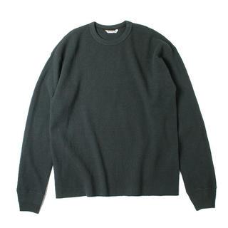 AURALEE ワッフルカットソー BK(Tシャツ/カットソー(七分/長袖))