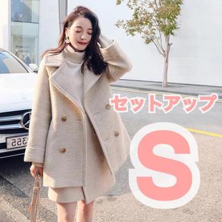 FRAY I.D - 【新品未使用】フェイクウールジャケット&スカートセットアップ