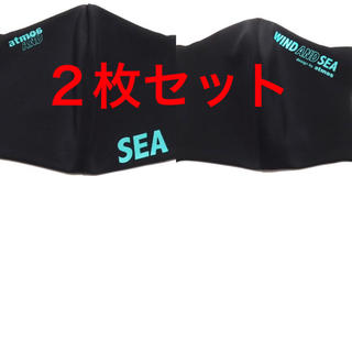 SEA - wind and sea ✕ atmos コラボ 小物 黒色 2柄  2枚セット