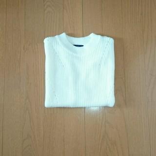 シマムラ(しまむら)のボトルネック ノースリーブニット(カットソー(半袖/袖なし))
