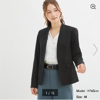 ジーユー(GU)のセットアップ★GUノーカラージャケット&テーパードパンツ(スーツ)