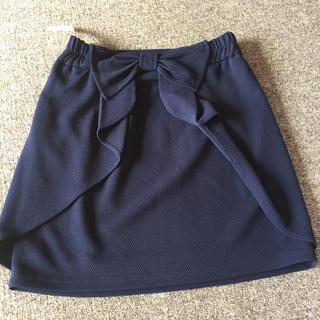 ダズリン(dazzlin)のネイビー バックリボン スカート(ひざ丈スカート)
