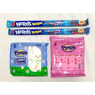 大人気アメリカお菓子!peeps2箱 nerds rope2本 セット