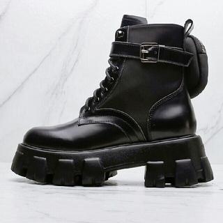 プラダ(PRADA)のPRADA サイドゴアブーツ ブラック 24.0cm(ブーツ)
