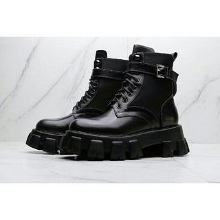 プラダ(PRADA)のPRADA  サイドゴアブーツ ブラック(ブーツ)