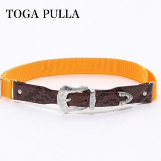 トーガ(TOGA)の【新品】ラスト1点 TOGA PULLA トーガ プルラ レザーベルト ナイロン(ベルト)