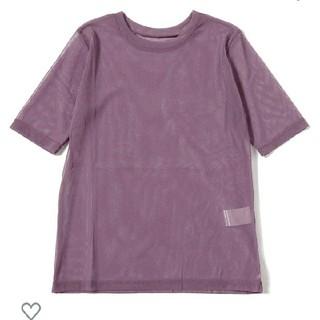 レイビームス(Ray BEAMS)のRay BEAMS チュールシアークルーネックT PURPLE(Tシャツ(半袖/袖なし))