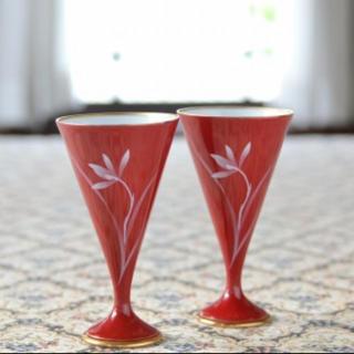 コウランシャ(香蘭社)の【新品・未使用】お値下げ! 香蘭社 ベネチアン ペアワイングラス(グラス/カップ)