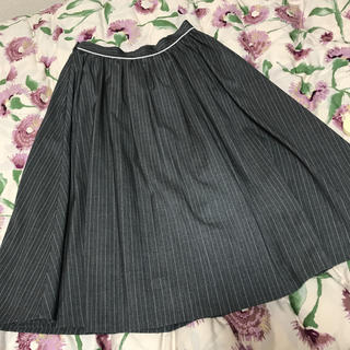 サロンドバルコニー(Salon de Balcony)のストライプ プリーツスカート(ひざ丈スカート)