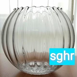 スガハラ(Sghr)のスガハラガラス 花瓶 フラワーベース 花器 丸型 球形 球体 円(花瓶)