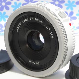 キヤノン(Canon)の極美品★Canon EF 40mm E2.8 STM ホワイト★単焦点レンズ★(レンズ(単焦点))