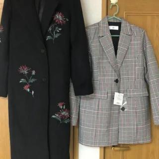 マウジー(moussy)の【お買い得】moussy 刺繍コート SLY ミディアムコート(ロングコート)