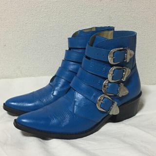 トーガ(TOGA)のトーガプルラ ショートブーツ BLUE 38(ブーツ)