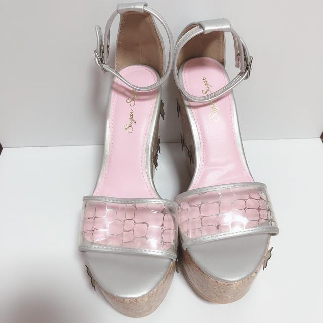 Sugar Sugar(シュガーシュガー)の【 新品 】厚底 ♡ ウェッジソールサンダル レディースの靴/シューズ(サンダル)の商品写真