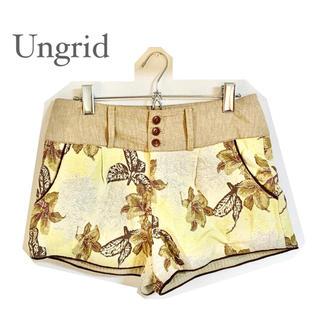 アングリッド(Ungrid)の【Ungrid】ボタニカル柄ショートパンツ(ショートパンツ)