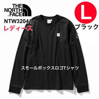 ザノースフェイス(THE NORTH FACE)のノースフェイス レディース スモールボックスロゴティー L ブラック(Tシャツ(長袖/七分))