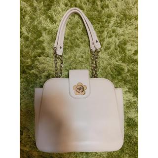 マリークワント(MARY QUANT)のマリークワント  オフホワイト革のカバン(ハンドバッグ)